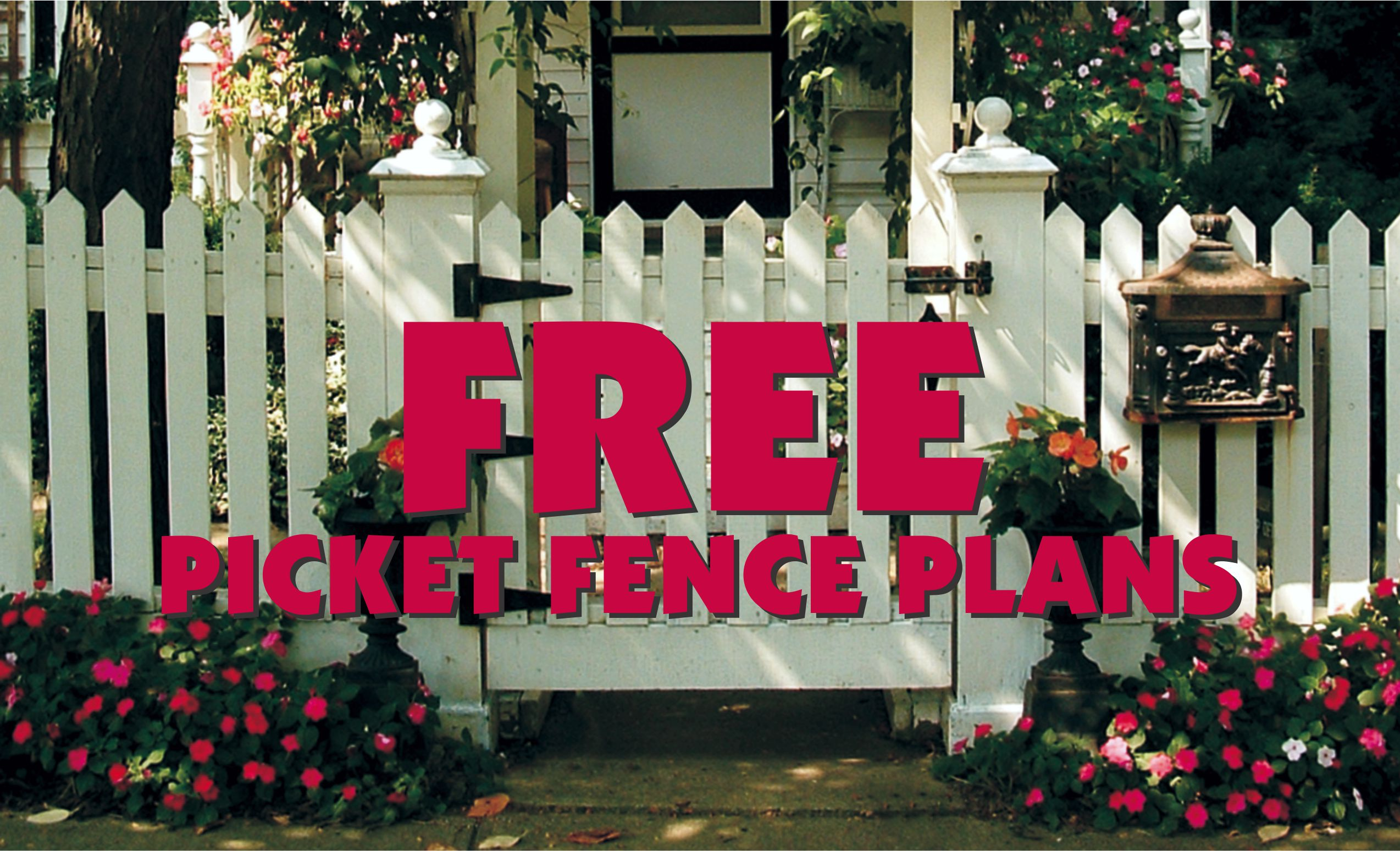 Free Picket Fence Plans 8